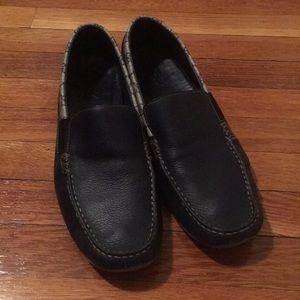 Men's size 13 Gucci moccasins dark navy blue